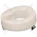 "Ashby Easy Fit Raised Toilet Seat - Size Seat Height: 150 mm (6"")"