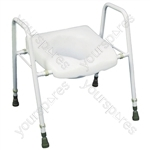 President Raised Toilet Seat and Frame - Configuration Adjustable Height and Width