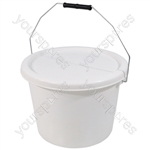 10 Litre Commode Bucket and Lid for the Aidapt Range of Commodes