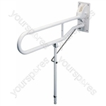 Solo Hinged Arm with Back Plate and Leg - Length (Extended) (mm) 600