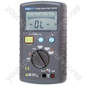Auto Ranging Insulation Tester Powered by 8x AA Batteries (Not Supplied)