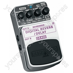 Behringer DR400 Digital Reverb/delay Guitar Effects Pedal