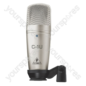 Behringer C-1U Microphone With USB Audio Interface and Software Suite