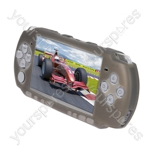 PSP3000 Silicone Case + Screen Gaurd - Black