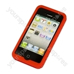 iPhone 4 - Silicone Grip - Red