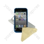 iPhone 4 - Deluxe Tpu Case-trans Blue