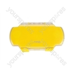 PSP2 Crystal Clear Armour Case - Yellow