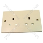 Unswitched Socket 2 Gang 13 Amp