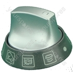 Knob Main Oven Selector Graphite/aluminium