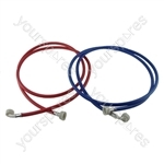 Beko Universal Washing Machine Inlet Fill Hose Set 2.5M Hot & Cold