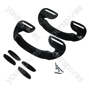 2 X Universal Black Plastic Fridge Freezer Door Grab Handle