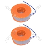 2 x Bosch Strimmer Trimmer Spool And Line ART23, ART26, ART30, ART2300, ART300, ART2600, BQ112