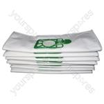 Numatic 5 Layer Microfibre Vacuum Cleaner Dust Bags (10 Pack)