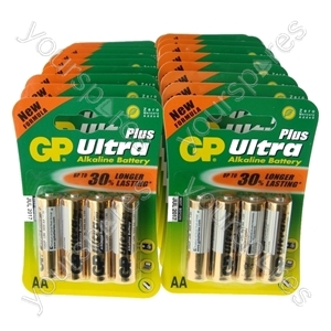 GP Ultra Plus Alkaline Batteries AA 25 x Packs Of 4 Expiry 2017